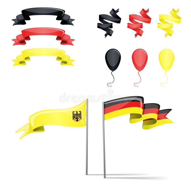 Ensemble de l'Allemagne de drapeaux illustration de vecteur