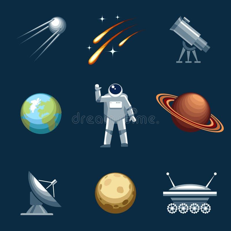 Ensemble de l'espace et d'astronomie illustration libre de droits