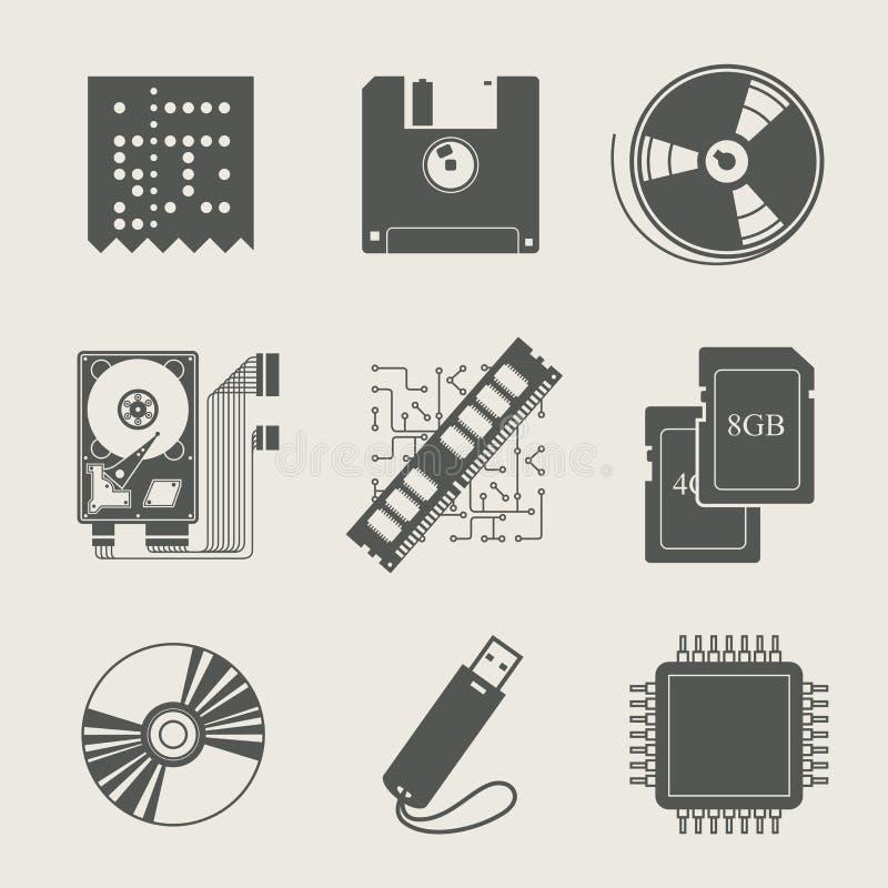 Ensemble de l'information de mémoire de graphisme illustration libre de droits