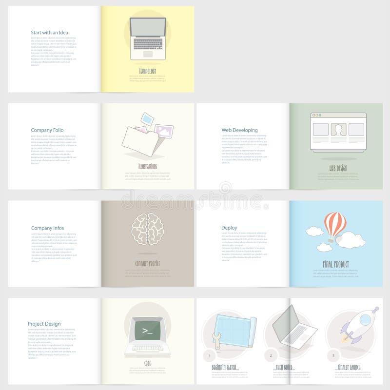 Ensemble de l'insecte, calibres de conception de brochure pour des affaires illustration libre de droits