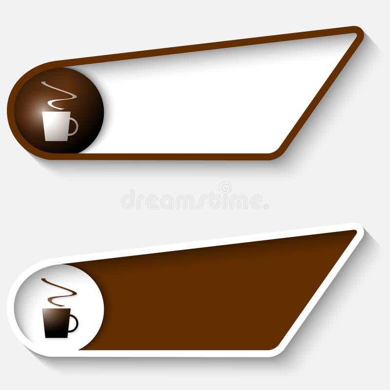 Ensemble de la boîte deux brune pour le texte illustration de vecteur
