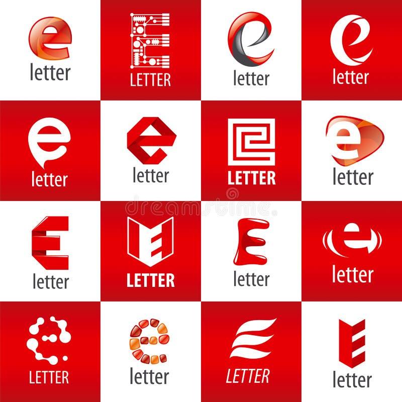 Ensemble de la lettre E de logos de vecteur illustration libre de droits