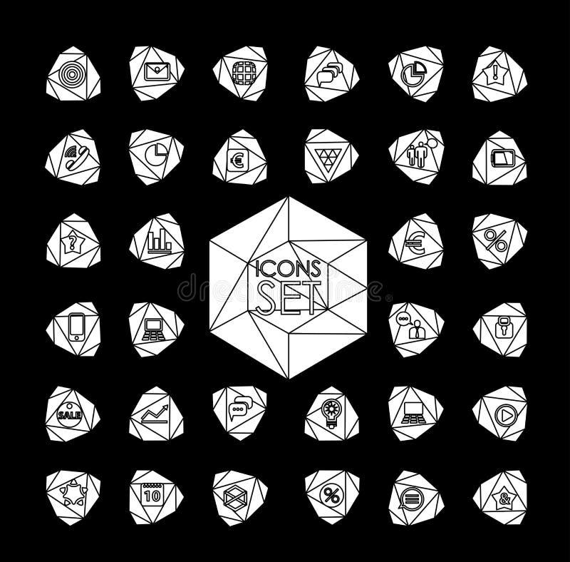 Ensemble 600 de la ligne mince moderne universelle icônes pour illustration stock
