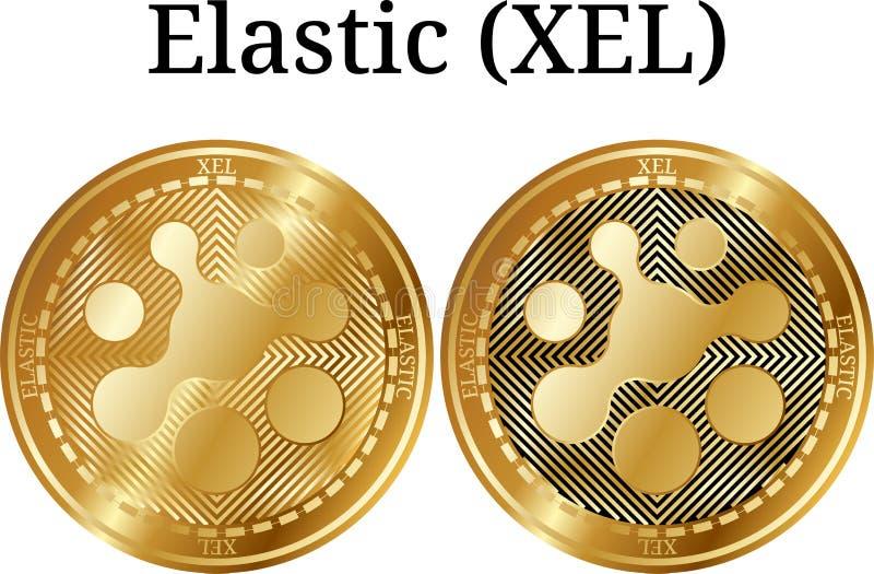 Ensemble de la pièce de monnaie d'or physique XEL élastique illustration libre de droits