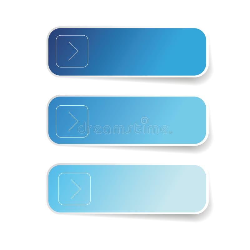 Ensemble de label bleu vide illustration de vecteur
