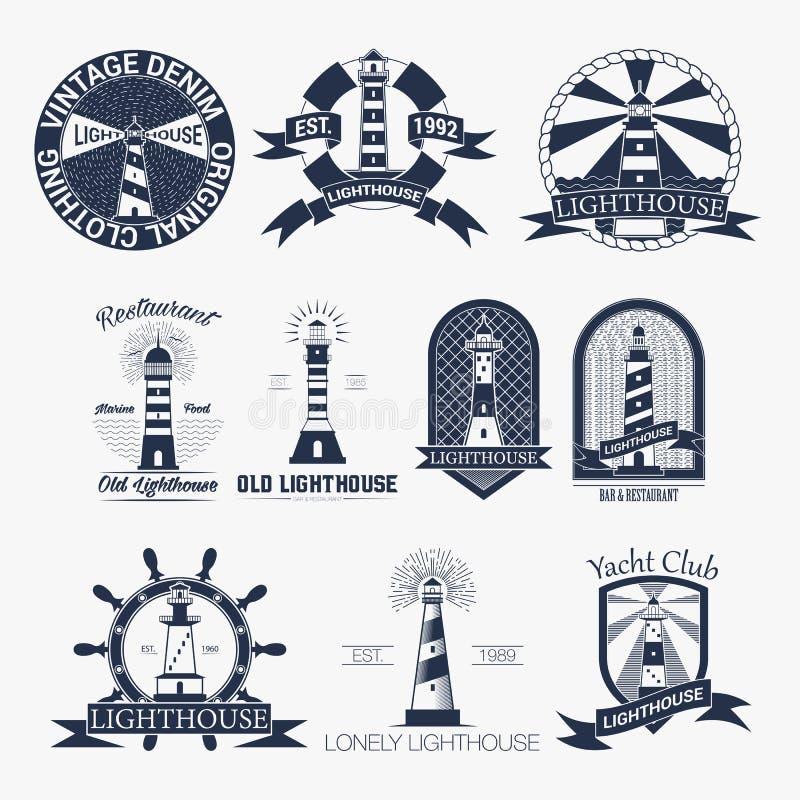 Download Ensemble De Label De Phares, De Logo Ou De Calibre D'insigne Illustration De Vecteur Illustration de Vecteur - Illustration du navigation, nuit: 77154350