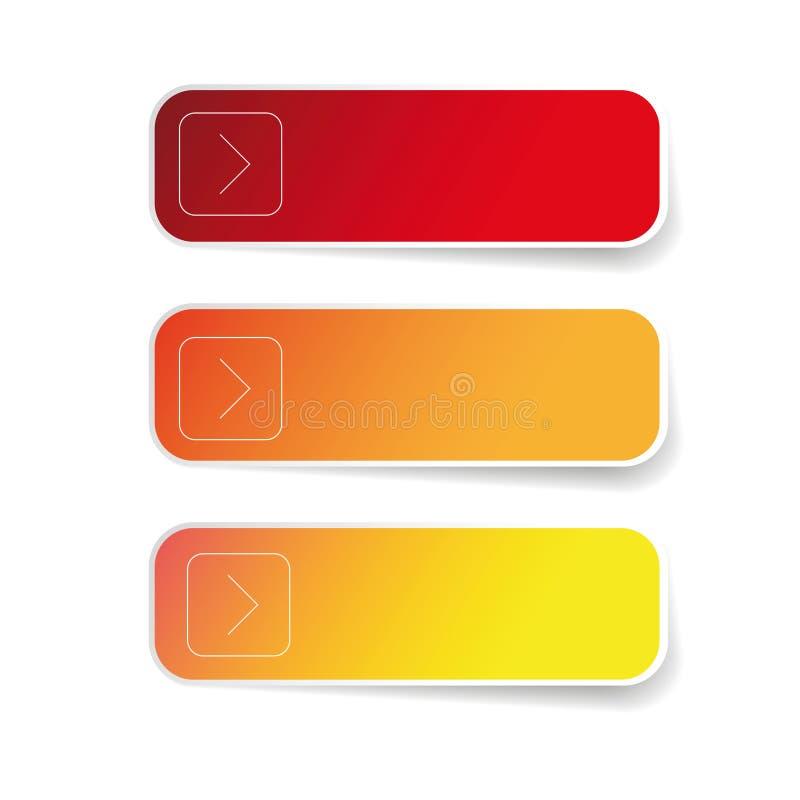 Ensemble de label rouge vide illustration de vecteur