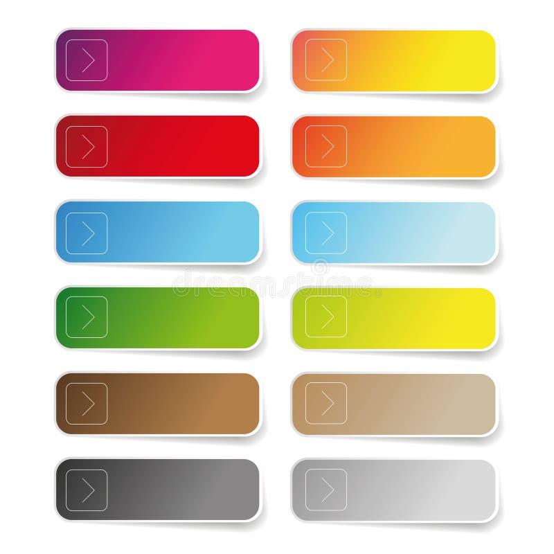 Ensemble de label vide de couleur illustration stock