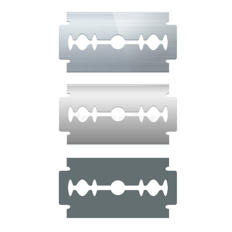 Ensemble de lame de rasoir Vecteur illustration stock