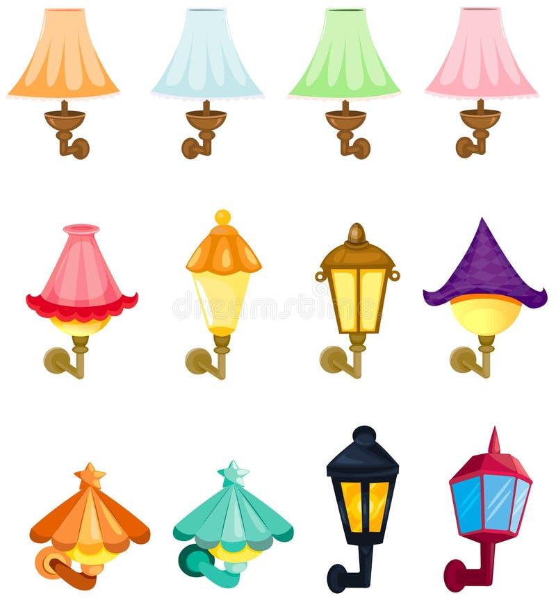 Ensemble de lanternes de mur illustration stock