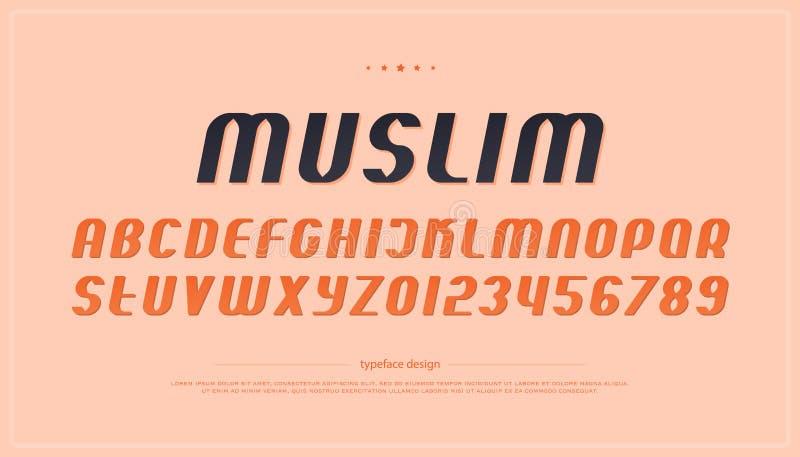 Ensemble de lettres et de nombres italiques d'alphabet de style vecteur, police oblique illustration libre de droits