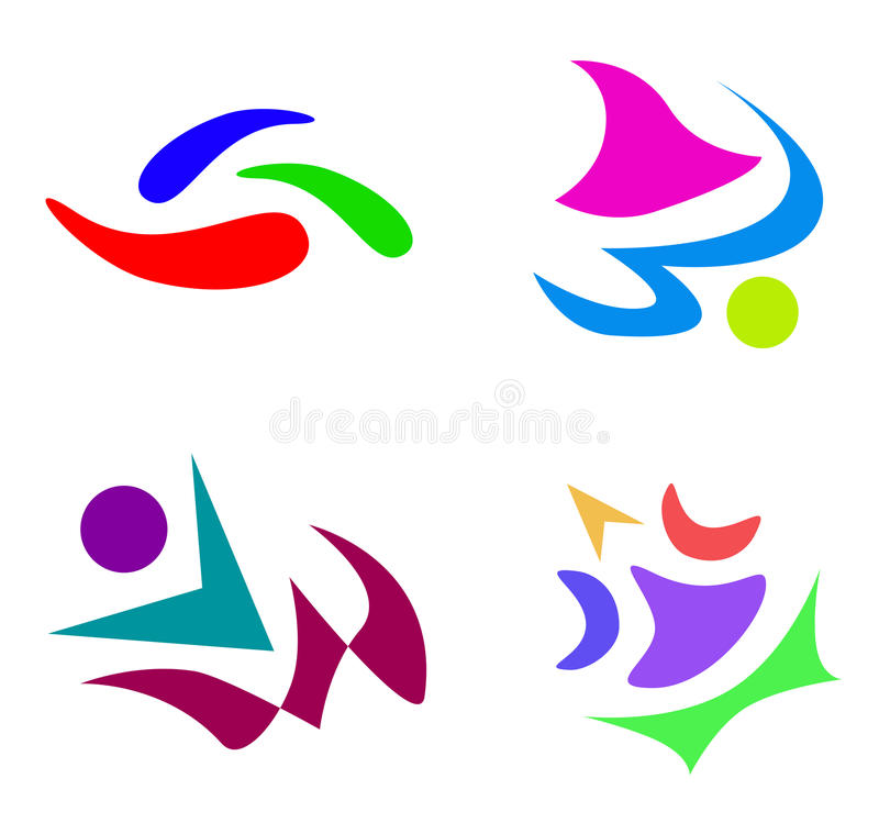 Ensemble de logo illustration libre de droits