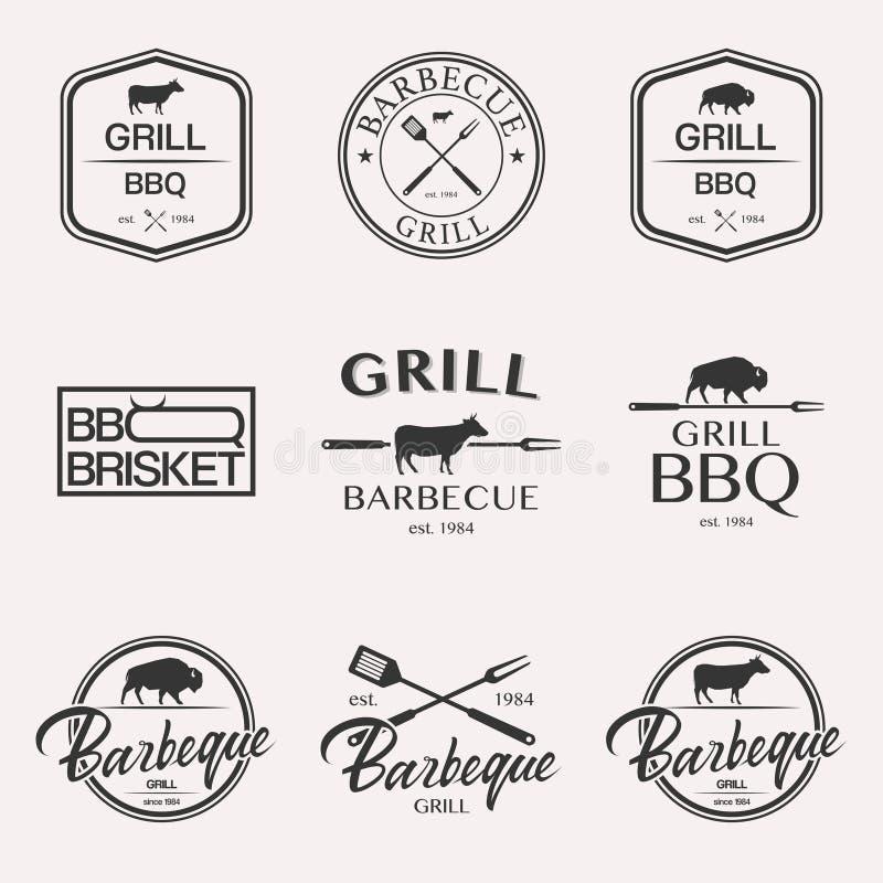 Ensemble de logo de barbecue photographie stock libre de droits