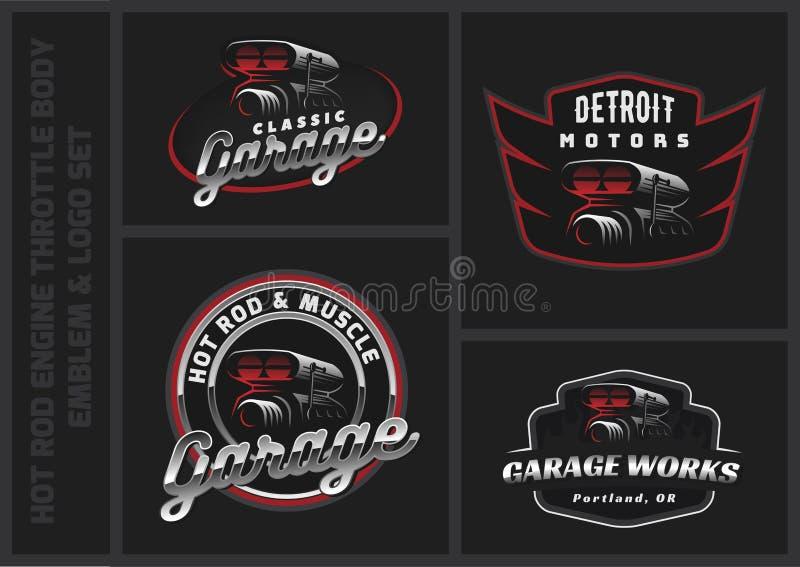 Ensemble de logo classique, d'emblèmes et d'insignes de voiture illustration libre de droits