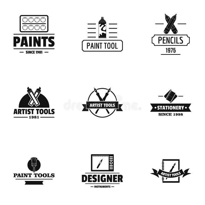 Ensemble de logo de décorateur, style simple illustration stock