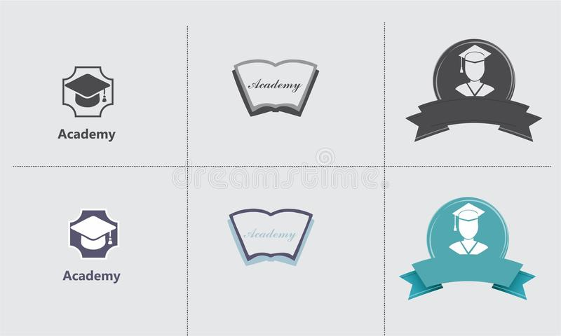 Ensemble de logo d'académie illustration libre de droits