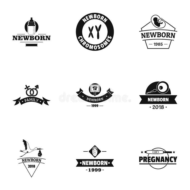 Ensemble de logo d'accouchement, style simple illustration stock