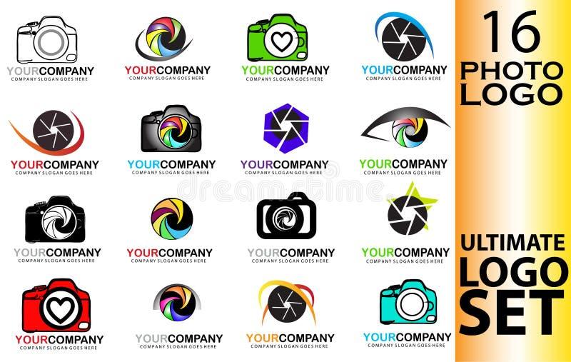 Ensemble de logo d'appareil-photo illustration de vecteur
