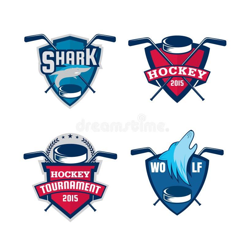 Ensemble de logo d'hockey illustration de vecteur