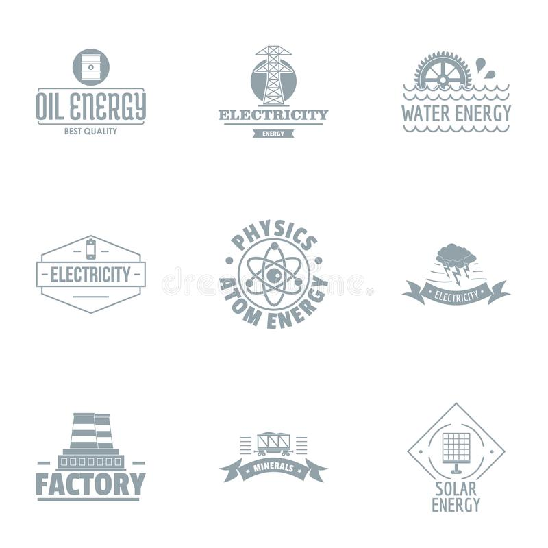Ensemble de logo d'usine de guerre, style simple illustration libre de droits