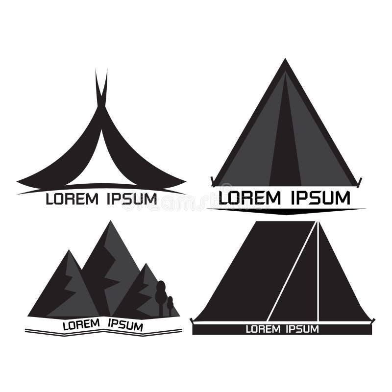 Ensemble de logo de camping photos libres de droits