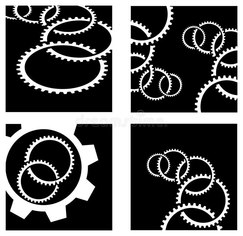 Ensemble de logo de roues de vitesse illustration libre de droits