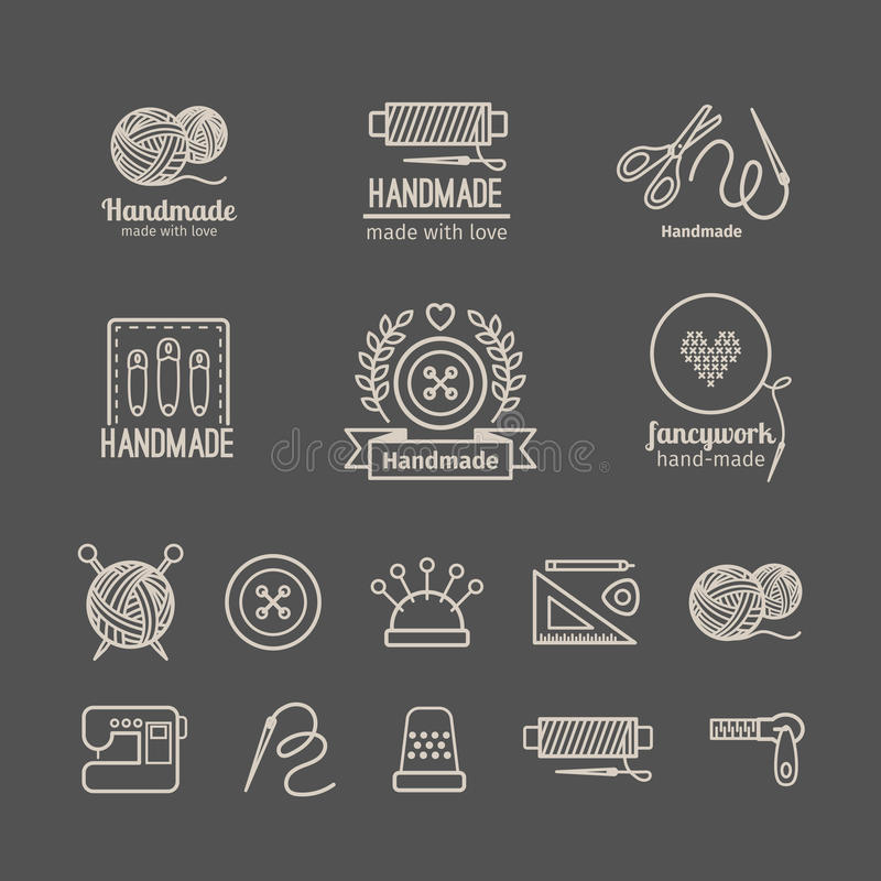 Ensemble de logo de travail manuel illustration libre de droits