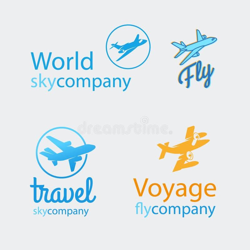 Ensemble de logo de voyage illustration stock