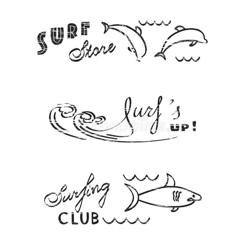 Ensemble de logos illustration libre de droits