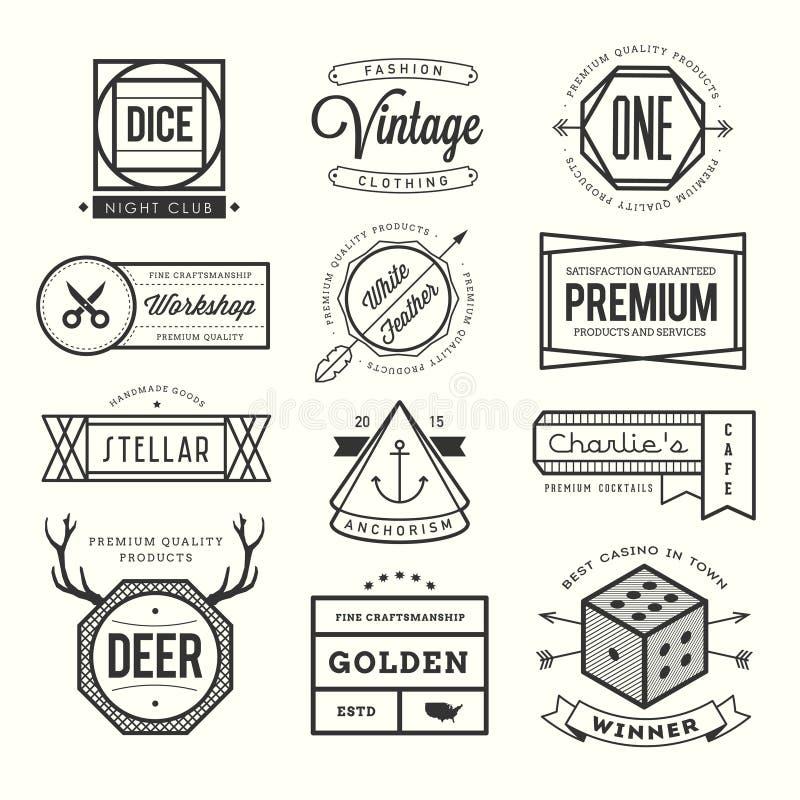 Ensemble de logos, d'insignes et de labels de vintage illustration de vecteur