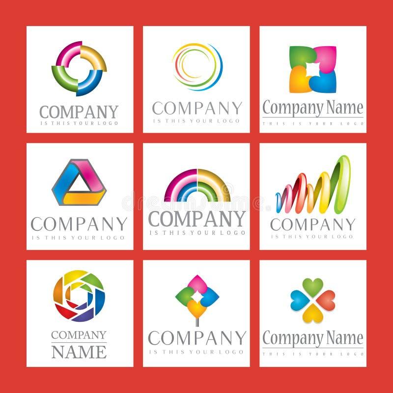 Ensemble de logos de compagnie illustration de vecteur