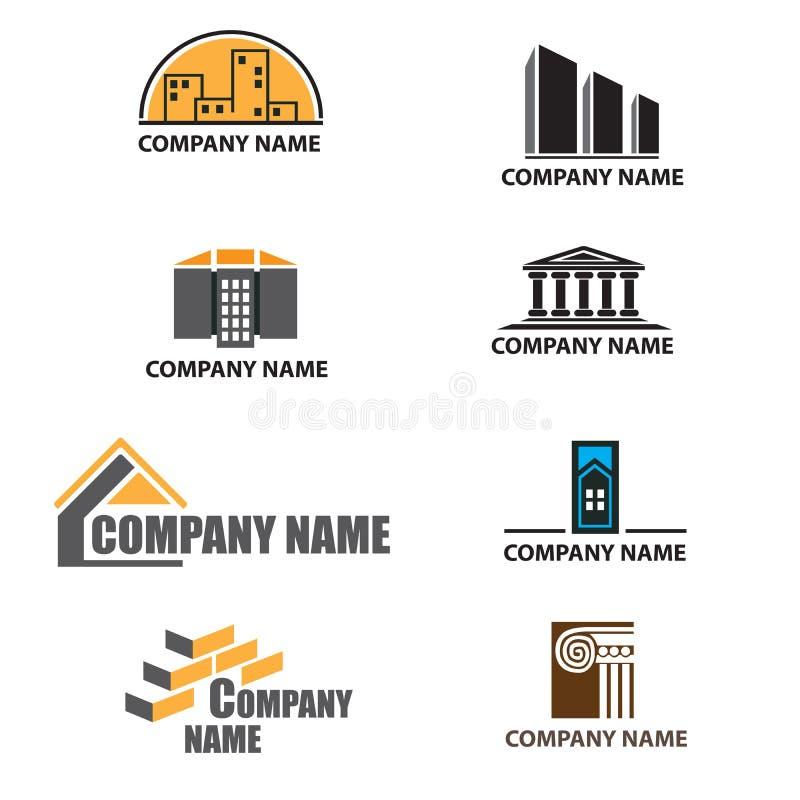 Ensemble de logos de compagnie de construction photographie stock libre de droits
