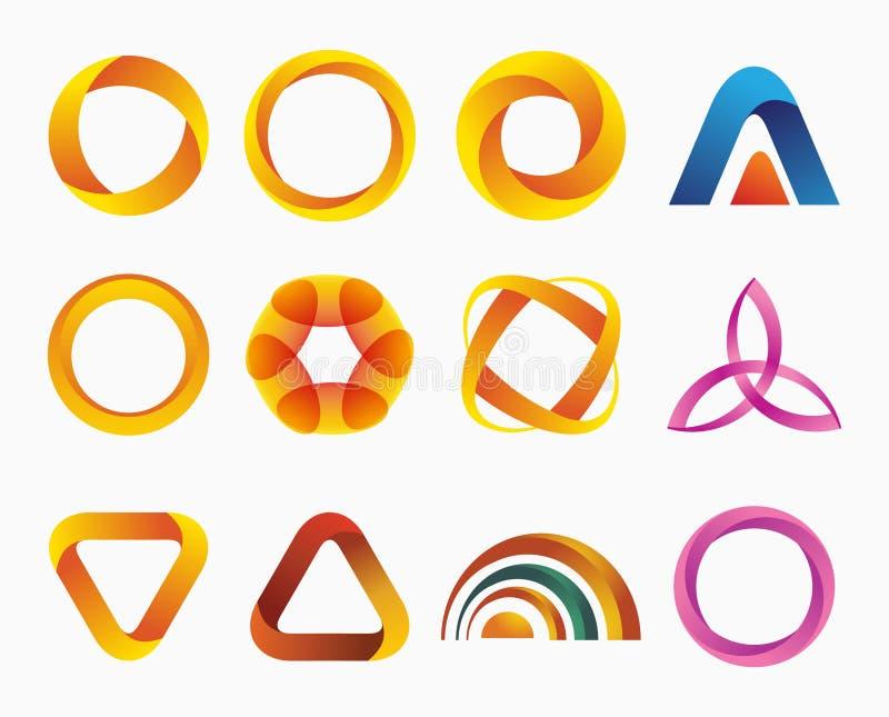 Ensemble de logos de gradient de calibres illustration libre de droits