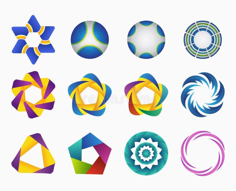 Ensemble de logos de gradient de calibres illustration de vecteur