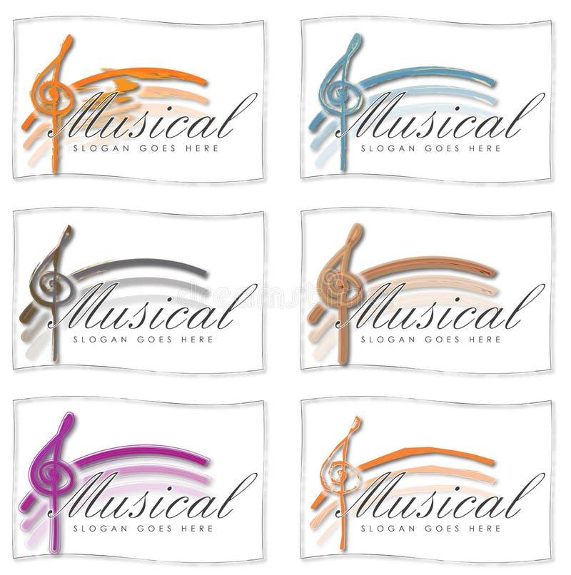 Ensemble de logos de musique pour des cartes ou des icônes illustration libre de droits