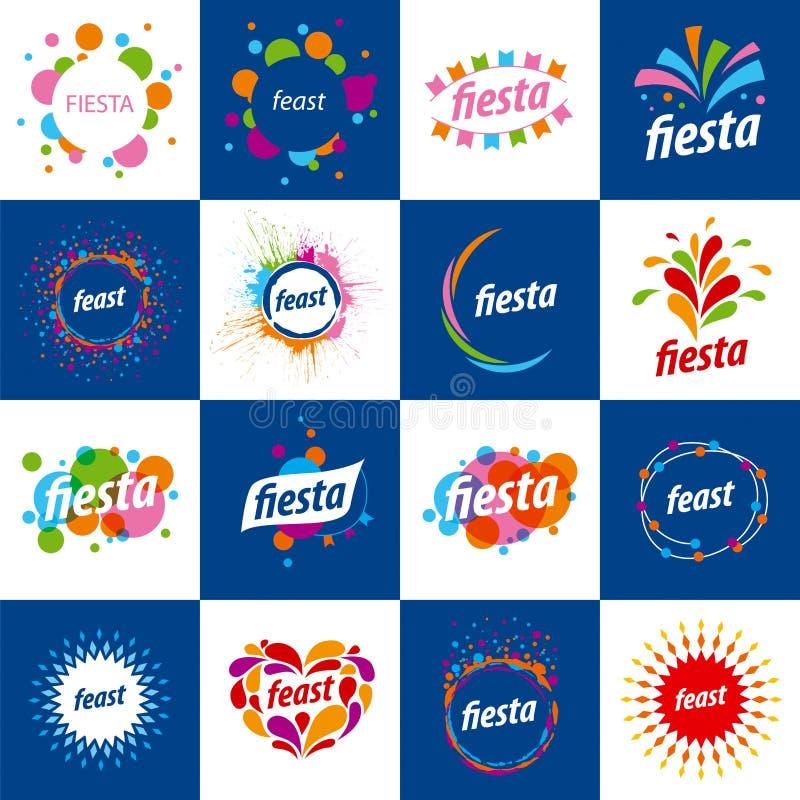 Ensemble de logos de vecteur pendant des vacances illustration stock