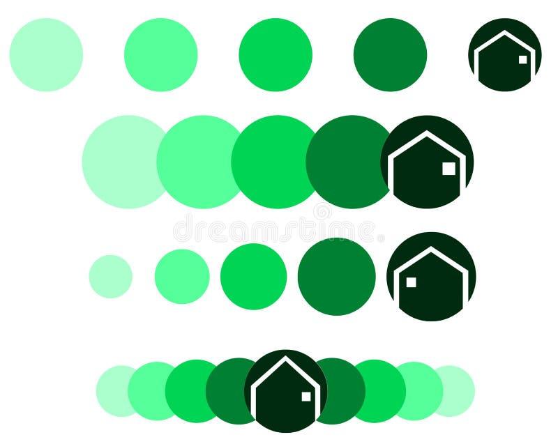Ensemble de logos pour des architectes ou de vrais agents immobiliers illustration de vecteur