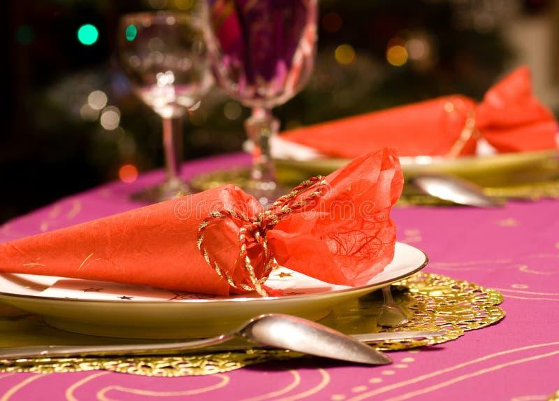 Ensemble de luxe de table d'un dîner photographie stock