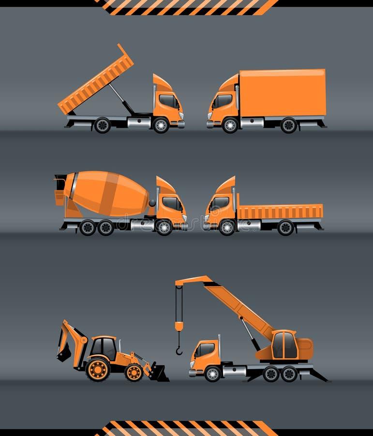 Ensemble de machines de construction illustration de vecteur
