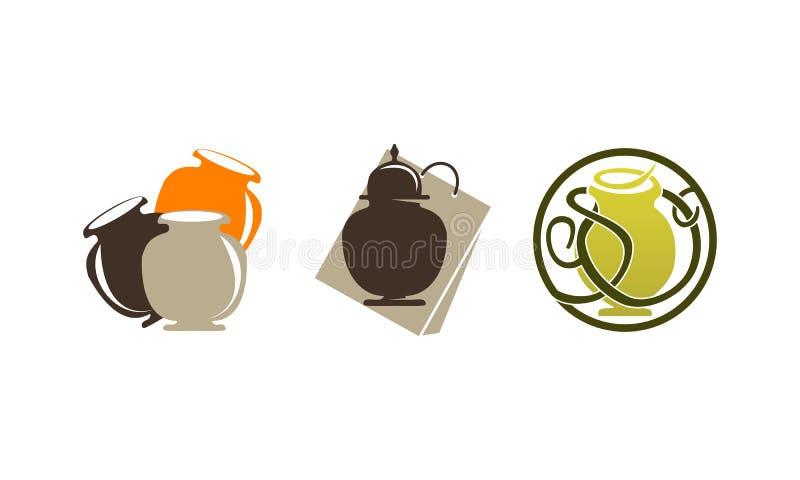Ensemble de magasin d'Ewer d'urne illustration stock
