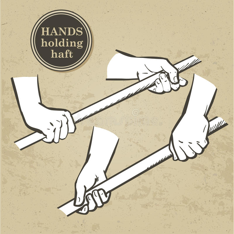 Ensemble de mains illustration libre de droits