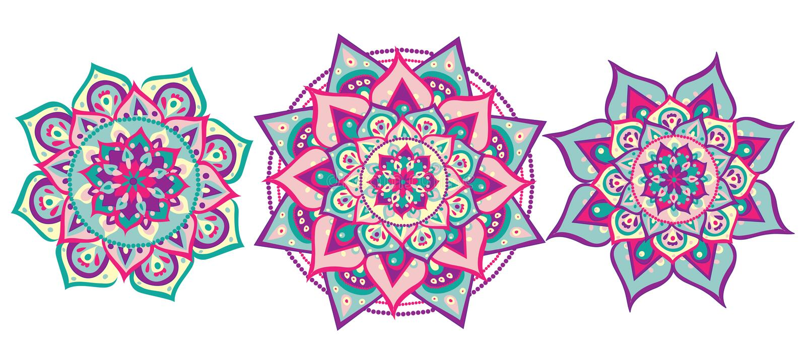 Ensemble de mandala illustration stock