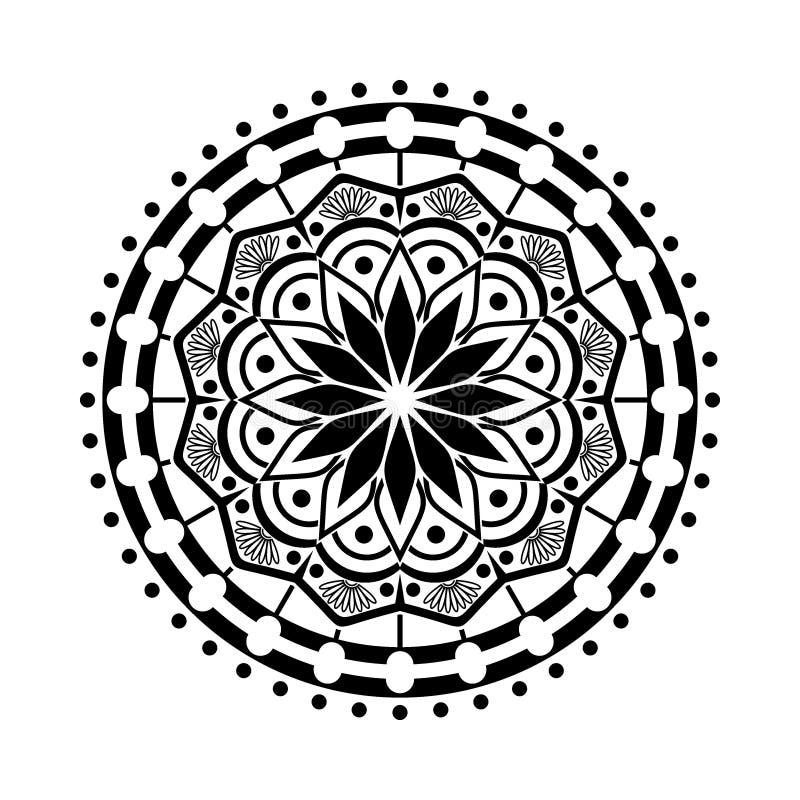 Ensemble de mandala Modèle circulaire sous la forme de mandala image libre de droits