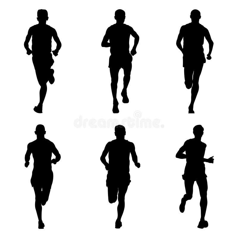 Ensemble de marathon courant illustration libre de droits
