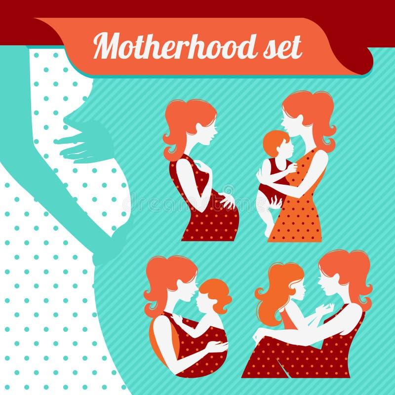 Ensemble de maternité illustration libre de droits