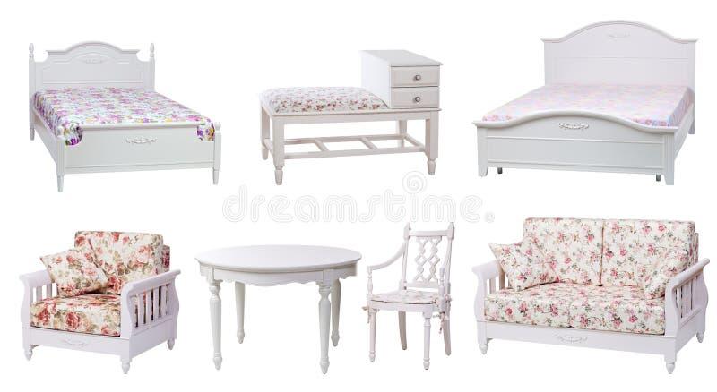 Ensemble de meubles de chambre à coucher et de salle de séjour photo stock