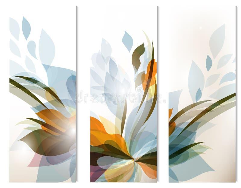 Ensemble de milieux colorés d'abrégé sur vecteur pour la conception illustration de vecteur