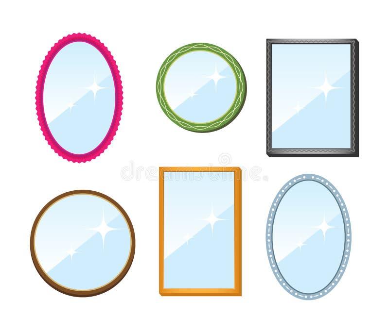 Ensemble de miroirs illustration libre de droits