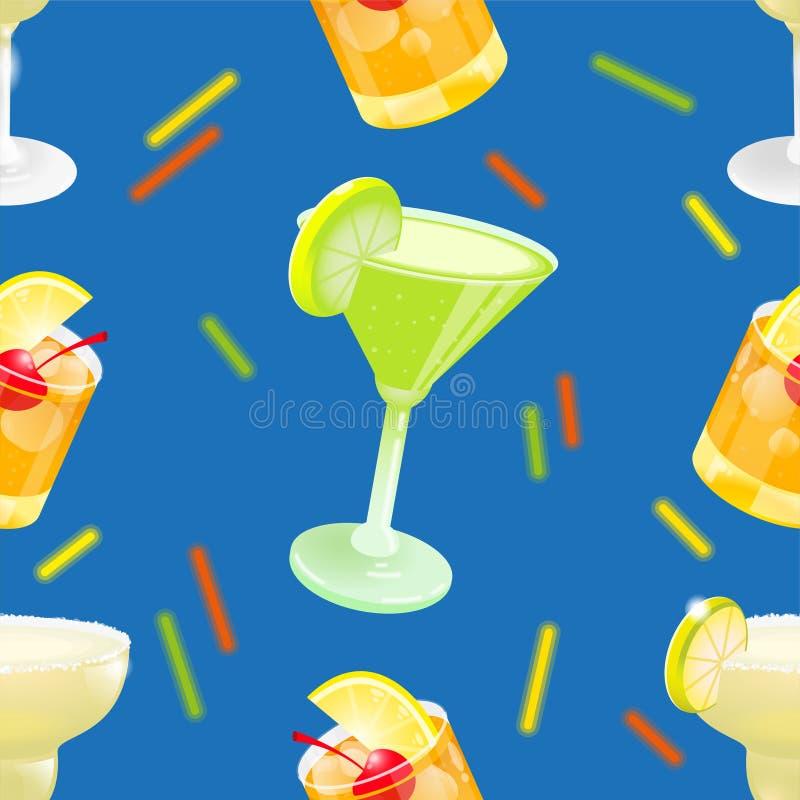 Ensemble de modèle de cocktail illustration de vecteur
