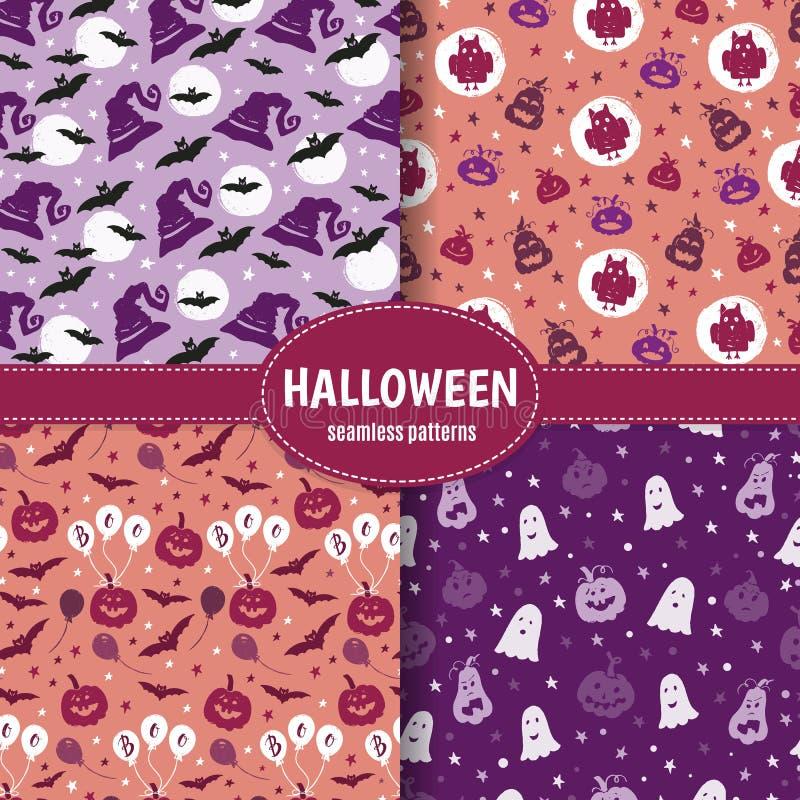 Ensemble de modèle de Halloween illustration stock